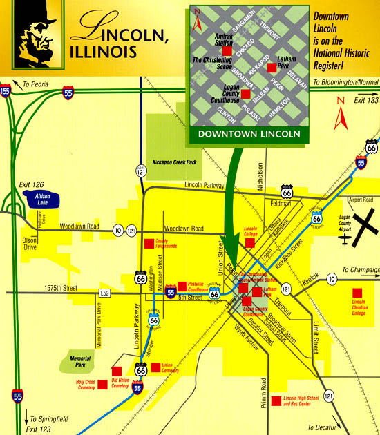 Sightseeing, Shopping, & Dining in Downtown Lincoln, Illinois